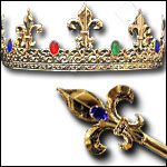 Medieval Crowns and Scepter