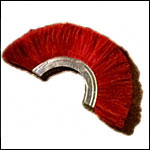 Roman and Greek Plumes or Crests from real Horsehair for use with our Roman and Greek Helmets