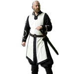 Medieval Tabard Off White - Black Trim