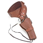 Deluxe Tooled Brown Western Holster 16-04100