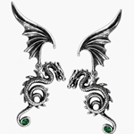 Bestia Regalis Earrings Pewter Alchemy E286