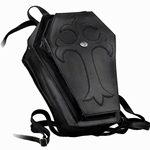 Leather Black Coffin Back Pack Alchemy LG32