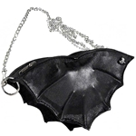 Black Leather Bat Purse LG46