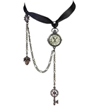 Uncle Alberts Timepiece Choker Pewter Alchemy P729