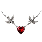 Swallow Heart Necklace 17-ULFP1