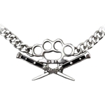 Switchblade Chain Choker Pewter Alchemy ULP31