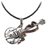 Steel Guitar Pendant Pewter Alchemy ULP35