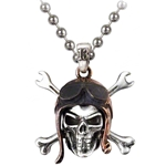 Death Valley Skull Pendant Pewter Alchemy ULP38