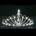 Waves Enclosing Dangling Pear Tiara Comb 172-11974