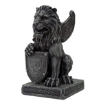 Lion with Shield Gargoyle