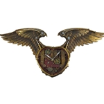Steampunk Heart Winged Clock 26.5 inches