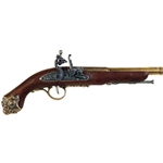 18th Century French Flintlock Pistol Brass