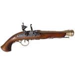 18th Century Flintlock Pistol Brass