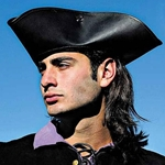 Leather Pirate / Highway Man's Tricorn Hat 200550