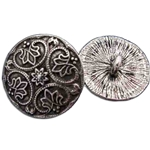 Pewter Round Renaissance Button 21-2093