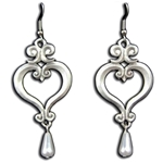 Renaissance Heart Earrings 21-2133
