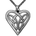 Celtic Knot Heart Necklace 21-2200