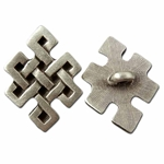 Squared Knot Pewter Button 21-2325