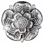 Pewter Tudor Rose Brooch 21-2352