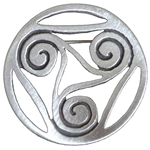Celtic Spirals Pewter Brooch 21-2379