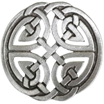 Round Celtic Knot Brooch 106.0659