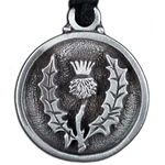 Thistle Pewter Pendant Necklace 121.0615
