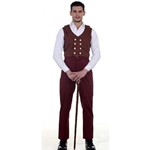 Plus Size Maroon Victorian Trousers  C1329