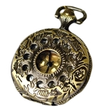 Floral Pocket Watch with Chain PW1001