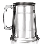 Pewter Tankard One Pint with Straight 2 Lines EP001
