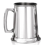 Pewter Tankard Plain Straight One Pint EP002
