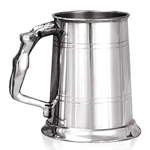 Nymph Handle Pewter Tankard One Pint EP017