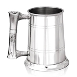 Scroll Handle One Pint Pewter Tankard UN03