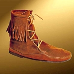 Mens Low Suede Boot With Fringe 26-100294