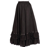 Reversible Parlor Skirt - Steampunk Skirt