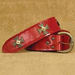 Medieval Wide Long Belt Red 26-200680