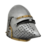 Houndskull Bascinet Helmet, 14 Ga. 2mm, Medium 29-AB0423