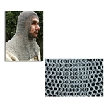Chainmail Coif Full Mantle Square Face Code B 29-AB2547