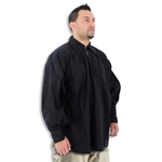Renaissance Collared Cotton Shirt Black Medium 29-GB3020