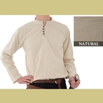 Heavy Cotton Shirt, Natural, Large