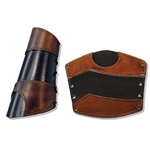 Leather Warrior Arm Bracer in Black and Brown Large