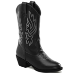 Girls Cowgirl Boots - Black