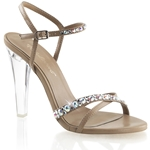 Criss-Cross Ankle Strap Sandals With Rhinestones