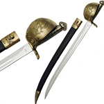 Pirate Sword with antique brass guard
