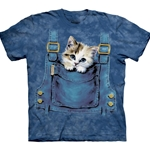 Kitty Overalls Adult Plus Size T-Shirt