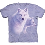 Graceful White Wolves Adult Plus Size T-Shirt