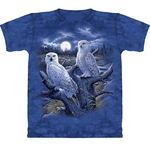Snowy Owls Adult Plus Size T-Shirt