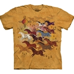 Horses and Sun Adult 3X-Large T-Shirt