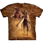 Old West Brown Sheriff Adult Plus Size T-Shirt 43-1013250