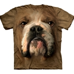 Bulldog Face Adult Plus Size T-Shirt 43-1032540