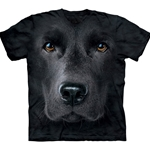 Black Lab Face Adult Plus Size T-Shirt 43-1032550